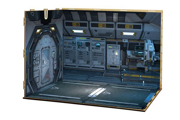 ジオラマルームLセット013「宇宙船-A01」(シール貼付け済)[箱庭技研]《在庫切れ》