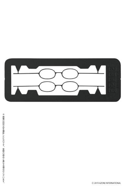 1/12 エッチングオーバルメガネ ブラック (ドール用)[アゾン]《在庫切れ》