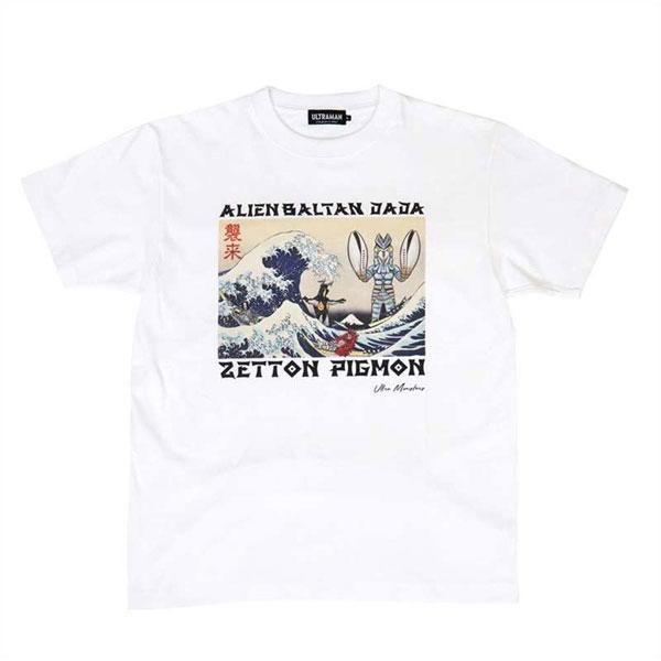 ウルトラ怪獣 浮世絵 Tシャツ(WHT)XL[リペアー]《在庫切れ》