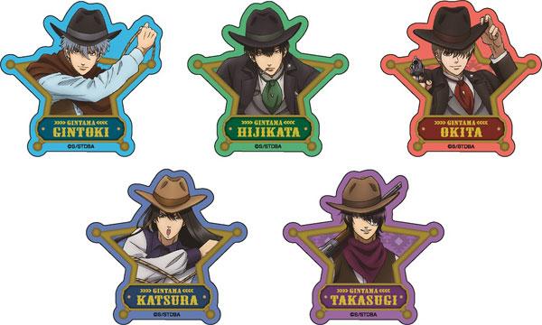 TVアニメ「銀魂」 ラメアクリルバッジ〈西部劇Ver.〉 5個入りBOX[メディコス・エンタテインメント]《発売済・在庫品》