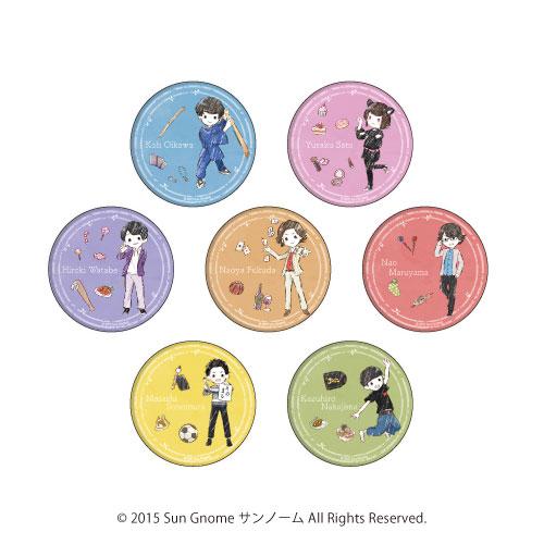 缶バッジ「サンノーム」01/グラフアート 7個入りBOX[A3]《在庫切れ》