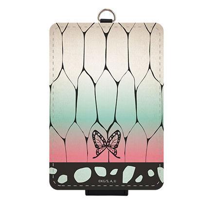 胡蝶しのぶの羽織をイメージしたパスケース