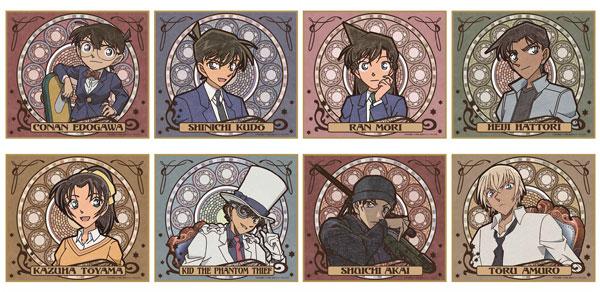 名探偵コナン ミニ色紙(ブラインド/アールヌーボー) 8個入りBOX[デルフィーノ]《発売済・在庫品》