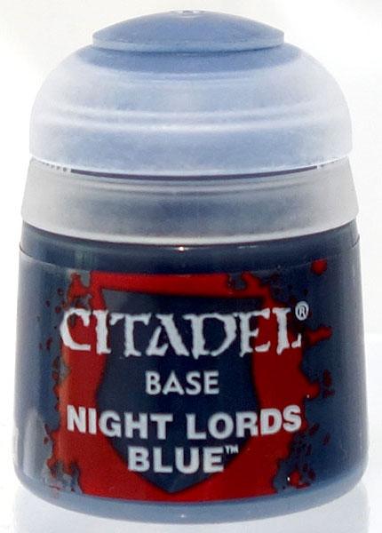 21-42 シタデルカラー BASE: NIGHT LORDS BLUE (12ML)[Games Workshop]《発売済・在庫品》