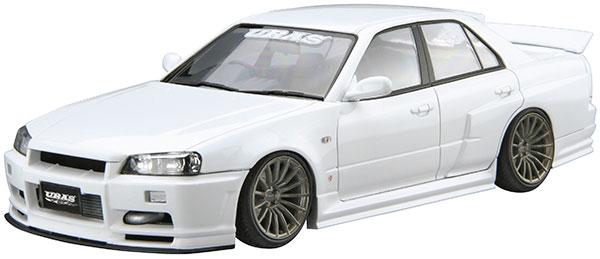 ザ・チューンドカー No.4 1/24 URAS ER34 スカイライン TYPE-R '01(ニッサン) プラモデル(再販)[アオシマ]《09月予約》