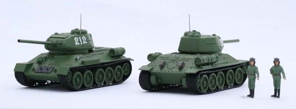 1/76 スペシャルワールドアーマーシリーズ No.34 ソビエト中戦車 T-34/85 (2両セット) プラモデル[フジミ模型]《発売済・在庫品》