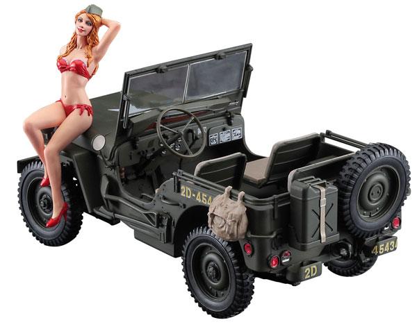 1/24 1/4トン 4×4トラックw/ブロンドガールズフィギュア プラモデル[ハセガワ]《在庫切れ》