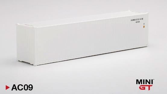 1/64 40ftコンテナ ホワイト[MINI GT]《在庫切れ》