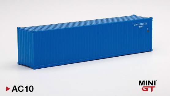 1/64 40ftコンテナ ブルー[MINI GT]《在庫切れ》