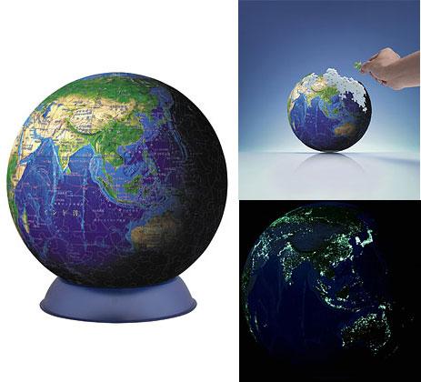 ジグソーパズル 3D球体パズル ブルーアース 240ピース(2024-110)[やのまん]《在庫切れ》