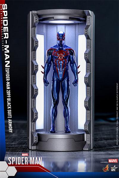 【8月以降発送・発売済商品】スパイダーマン(スパイダーマン2099ブラックスーツ/スパイダースーツ格納庫付)(再販)[ホットトイズ]《08月予約》