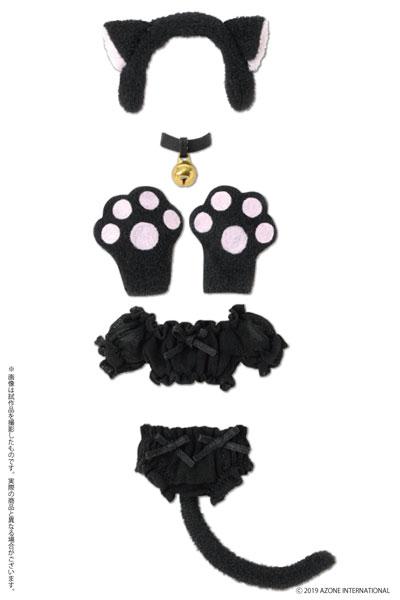 ピコニーモ用 1/12 ふわくしゅ にゃんこセット ブラック (ドール用)[アゾン]《発売済・在庫品》