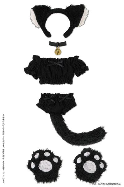 1/6 ピュアニーモ用 PNS ふわくしゅ にゃんこセット ブラック (ドール用)[アゾン]《発売済・在庫品》