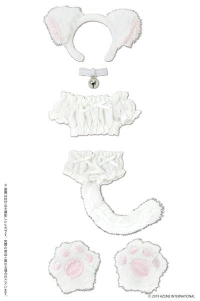 1/6 ピュアニーモ用 PNS ふわくしゅ にゃんこセット ホワイト (ドール用)[アゾン]《発売済・在庫品》