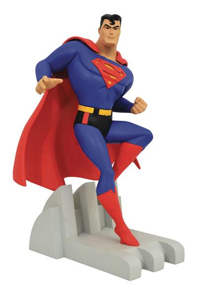 『スーパーマン アニメイテッド』スタチュー プレミアコレクション スーパーマン[ダイアモンドセレクト]【送料無料】《在庫切れ》