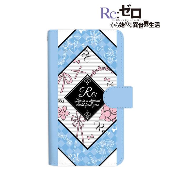Re:ゼロから始める異世界生活 レム ラインアート 手帳型スマホケース Mサイズ(再販)[アルマビアンカ]《08月予約》