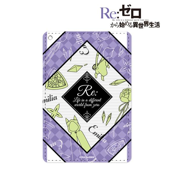Re:ゼロから始める異世界生活 エミリア ラインアート 1ポケットパスケース(再販)[アルマビアンカ]《08月予約》