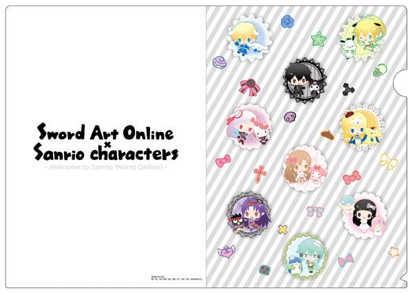 ソードアート・オンライン×サンリオキャラクターズ A4クリアファイル[コンテンツシード]《在庫切れ》