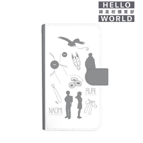 HELLO WORLD ラインアート手帳型スマホケース(対象機種/Mサイズ)[アルマビアンカ]《06月予約》
