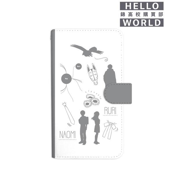 HELLO WORLD ラインアート手帳型スマホケース(対象機種/Lサイズ)[アルマビアンカ]《06月予約》