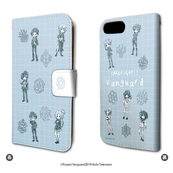 手帳型スマホケース(iPhone6/6s/7/8兼用)「カードファイト!! ヴァンガード」01/ちりばめデザイン(グラフアート)[A3]《在庫切れ》