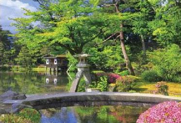 ジグソーパズル つつじ咲く新緑の兼六園(石川) 300ピース (03-910)[やのまん]《在庫切れ》