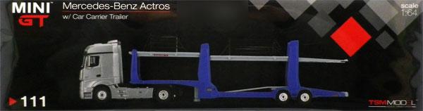 1/64 メルセデス ベンツ アクトロス/カーキャリアトレイラー (右ハンドル)[MINI GT]《在庫切れ》