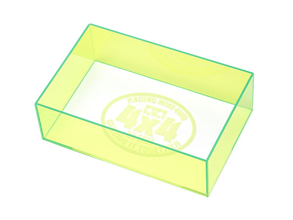 ミニ四駆 チェックボックス (全長・最大幅) ネオングリーン [ミニ四駆特別企画][タミヤ]《発売済・在庫品》