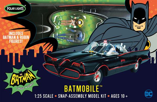 1/25 1966 バットモービル バットマン&ロビンフィギュア付き スナップキット プラモデル[ポーラライツ]《在庫切れ》