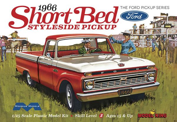 1/25 1966年型 フォード F-100 ショートベッド スタイルサイド ピックアップ プラモデル[メビウスモデル]《在庫切れ》
