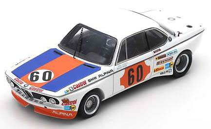 1/43 BMW 3.0 CSL No.60 1000km SPA 1973 N. Lauda - H-J. Stuck[スパーク]《03月仮予約》