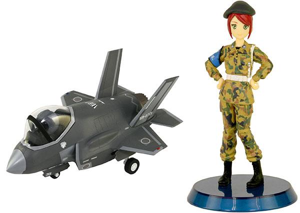 LDPシリーズ 航空自衛隊 戦闘機 F-35A 自衛官フィギュア付き 2(三沢ねむ 3等空曹 迷彩服) プラモデル[ピットロード]《02月予約》