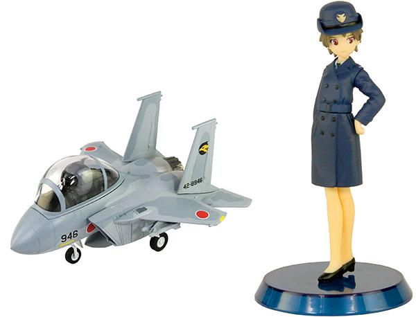 LDPシリーズ 航空自衛隊 戦闘機 F-15J 自衛官フィギュア付き 2(知念都子 2等空士 常装冬服/正帽/外套) プラモデル[ピットロード]《02月予約》