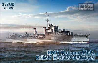 1/700 英・H級駆逐艦・ホットスパーH-01・英海軍1941年 プラモデル[IBG]《03月予約》