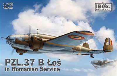 1/72 ルーマニア双発爆撃機PZL.37BロシュLos プラモデル[IBG]《03月予約》