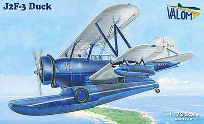 1/72 米・グラマンJ2F-3ダック水陸両用機・要人輸送 プラモデル[バロムモデル]《03月予約》