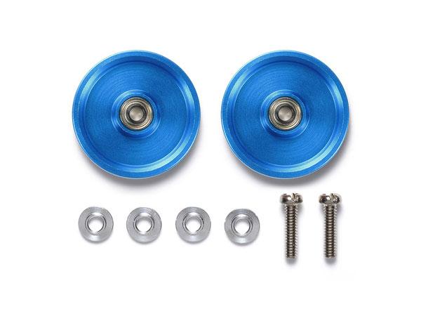 HG 19mmオールアルミベアリングローラーセット (ブルー)(再販)[タミヤ]《発売済・在庫品》