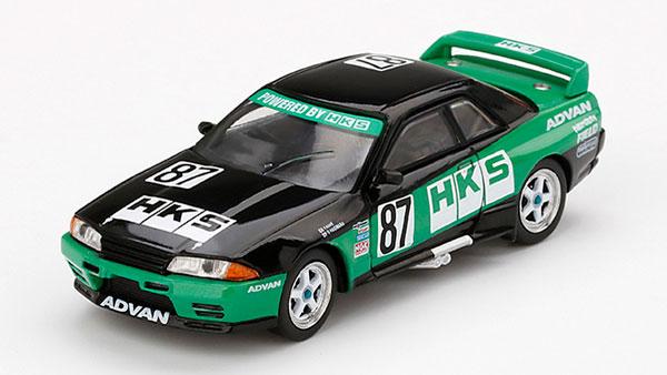 1/64 Nissan GT-R R32 HKS 全日本ツーリングカー選手権 1992 Gr.A #87(右ハンドル)[MINI GT]《06月予約》