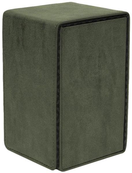 ウルトラプロ社サプライ スエードコレクション アルコーブデッキボックス タワー エメラルド[Ultra・PRO]《09月予約》