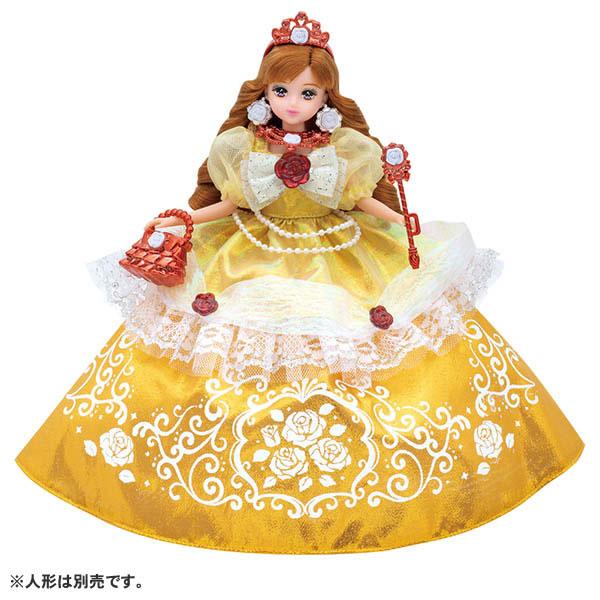 リカちゃん ゆめみるお姫さま エレガントローズドレス (ドール用)[タカラトミー]《発売済・在庫品》
