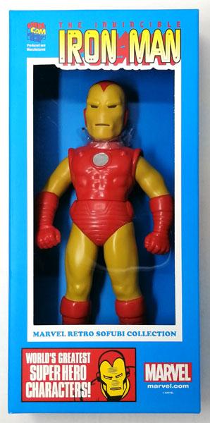 【中古】(本体A/箱B)MARVEL RETRO SOFUBI COLLECTION アイアンマン[メディコム・トイ]《発売済・在庫品》