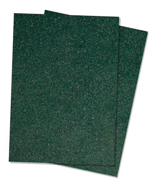 ジオラマシート 草地・濃緑 (A4サイズ2枚入)[プラッツ]《在庫切れ》