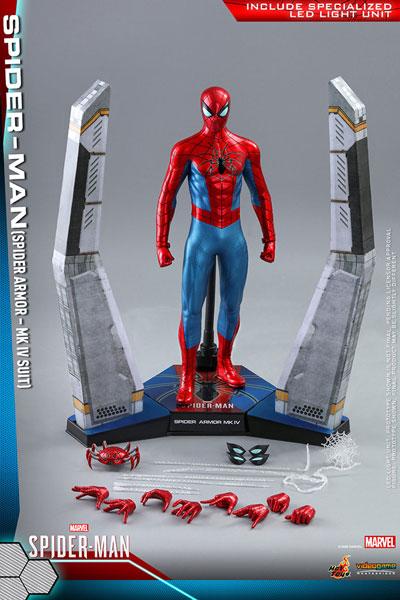 ビデオゲーム・マスターピース Marvel's Spider-Man フィギュア スパイダーマン(スパイダー・アーマーMK IVスーツ版) ※延期・前倒し可能性大[ホットトイズ]【同梱不可】【送料無料】《09月仮予約》
