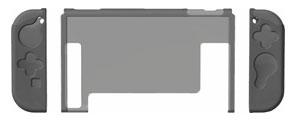 プレミアム プロテクトカバー セパレート クリアグレー (Switch用)[サイバーガジェット]《発売済・在庫品》
