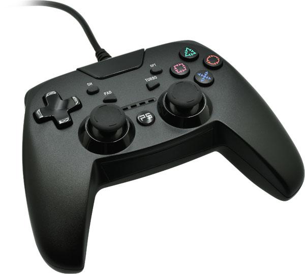 PS4/PS3/PC用 シンプルコントローラーターボ ブラック[Aclass]《発売済・在庫品》