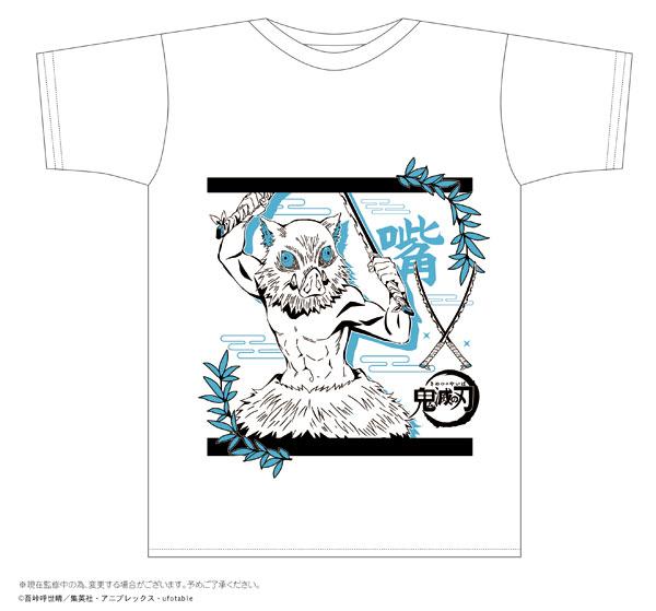 鬼滅の刃 ボトルTシャツ H柄 嘴平伊之助 White L[タカラトミーアーツ]《07月予約》