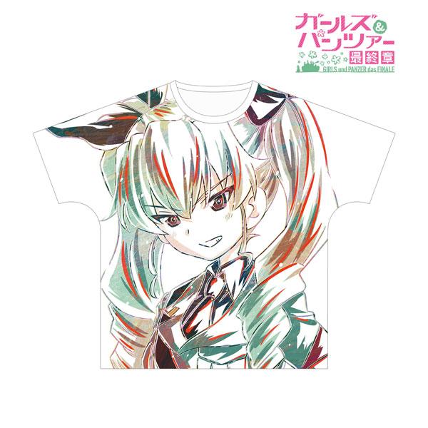 ガールズ&パンツァー 最終章 アンチョビ Ani-Art フルグラフィックTシャツ ユニセックス M[アルマビアンカ]《在庫切れ》