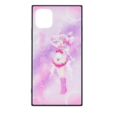 美少女戦士セーラームーン Eternal iPhone 11/XR 対応 スクエアガラスケース スーパーセーラーちびムーン[グルマンディーズ]《在庫切れ》