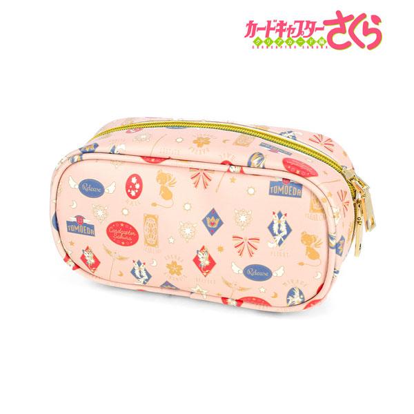カードキャプターさくら クリアカード編 モチーフ柄 メイクポーチ (ピンク)