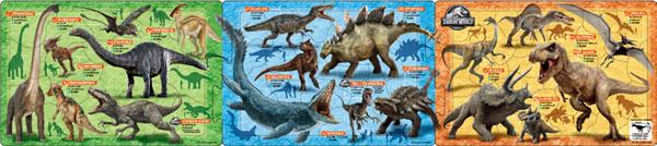 ジグソーパズル ステップパノラマパズル ジュラシック・ワールド 恐竜大図鑑 18+24+32ピース (24-151)[アポロ社]《在庫切れ》